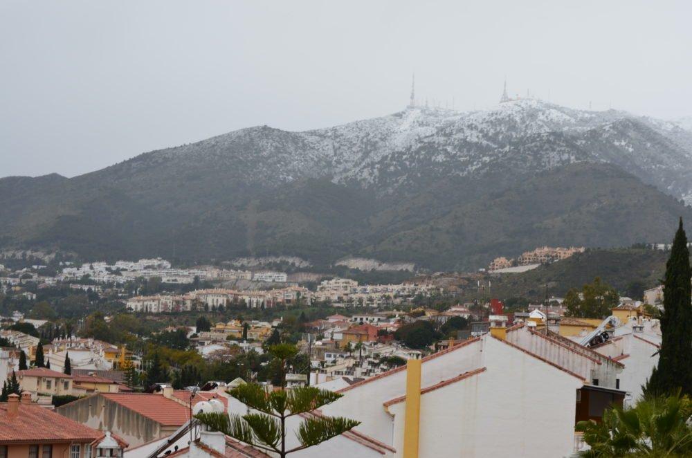 En sensasjon - nå har vi opplevd snø i Malaga!